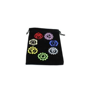 Pouch - Black with Chakra Design - Large