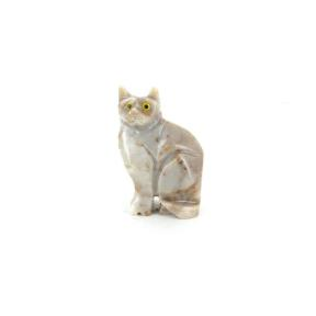 Soapstone Cat - Medium