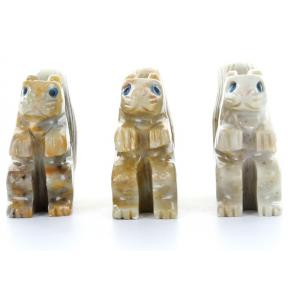 Soapstone Squirrel (3 Pack)