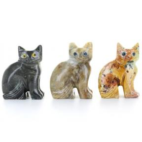 Soapstone Cat (3 Pack)