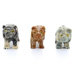 Soapstone Lion (3 Pack)
