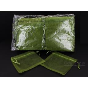 Pouch - Organza GREEN (100 Pack) - LARGE