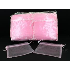 Pouch - Organza PINK (100 Pack) - LARGE