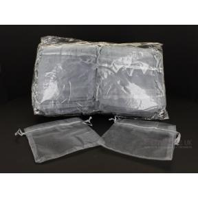 Pouch - Organza SILVER (100 Pack) - LARGE
