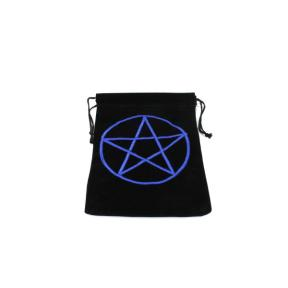 Pouch - Black with Pentacle Design - Large