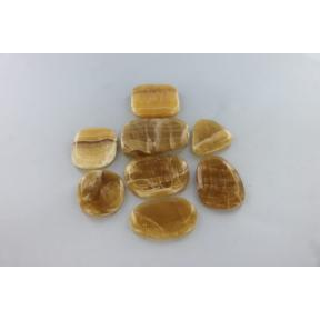 Calcite, Honey Flat Stone, Free Form 250g