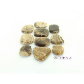 Calcite, Root Beer Flat Stone, Free Form 250g