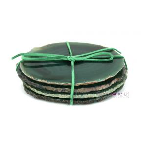 Agate, Green Coaster Set