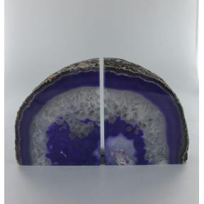 Agate, Purple Book Ends