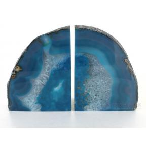 Agate, Teal Book Ends - 1