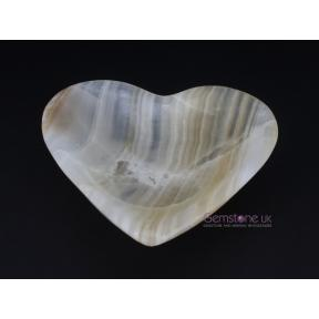 Aragonite Amber Heart Bowl