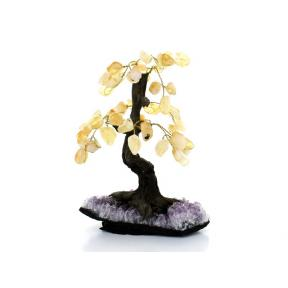 Citrine Bonsai Tree - Medium