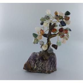 Mixed Crystal Bonsai Tree - Medium