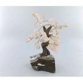 Rose Quartz Bonsai Tree - Medium