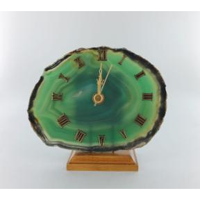 Agate Green Slice Clock