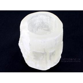Selenite Polished Top Candle Holder - Mini