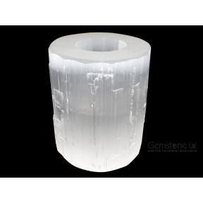 Selenite Polished Top Candle Holder
