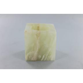 Calcite Green Square Mini Candle Holder