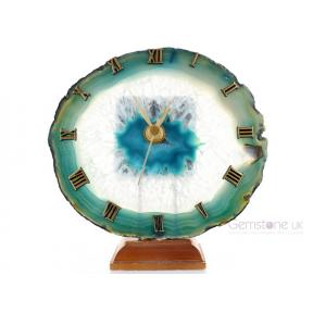 Agate, Teal Slice Clock