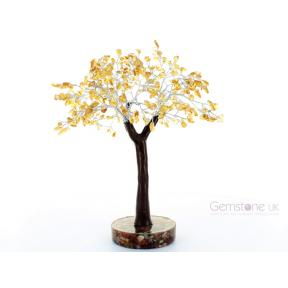 Citrine Gem Tree On Orgone Base - Large