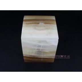 Aragonite Amber Large Square Box