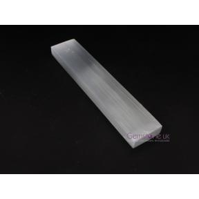 Selenite Flat Ruler 20cm