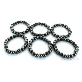 Hematite 8mm Bead Bracelet (6 Pack)