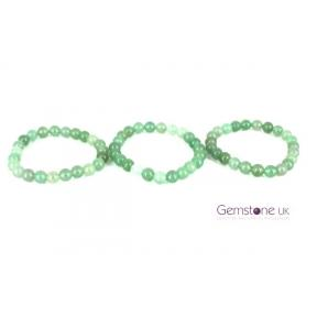 Aventurine Beaded Bracelet 8mm 3 Pack