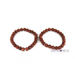 Goldstone Bead 8mm Bracelet 2 Pack