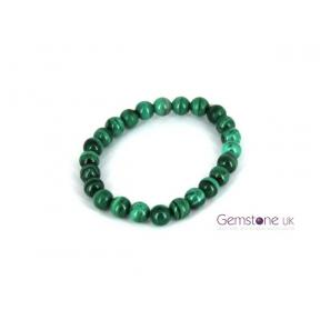 Malachite 8mm Bead Bracelet