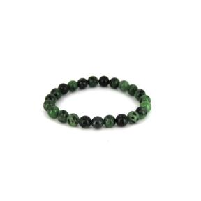 Ruby Zoisite 8mm Bead Bracelet