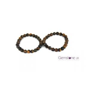Tiger Eye Bead 8mm Bracelet 2 Pack