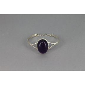 Amethyst .925 Adjustable Bangle