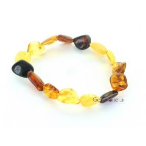 Amber Multi-coloured Drop Bracelet