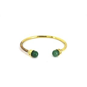 Aventurine Brass Bangle