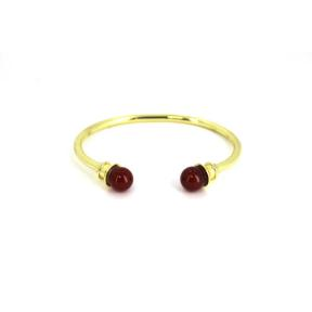 Carnelian Brass Bangle