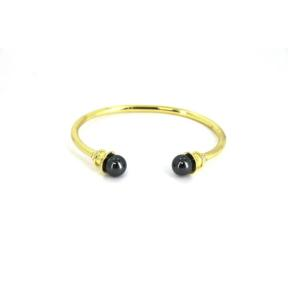 Hematite Brass Bangle
