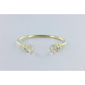 Quartz Brass Bangle
