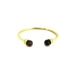 Tiger Eye Brass Bangle