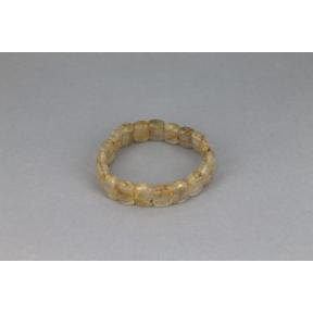 Quartz, Rutilated Rectangle Elasticated Bracelet