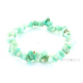 Amazonite Stone Chip Bracelet (3 Pack)