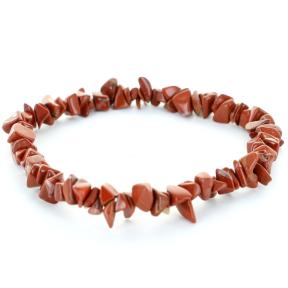 Jasper, Red Stone Chip Bracelet (3 Pack)