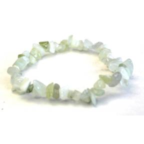 Serpentine, New Jade Stone Chip Bracelets (10 Pack)