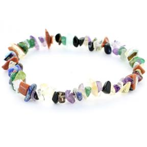 Mixed Crystal Stone Chip Bracelet - 1 (3 Pack)