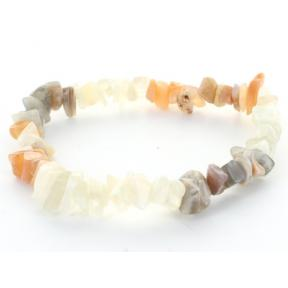 Moonstone Stone Chip Bracelet (3 Pack)