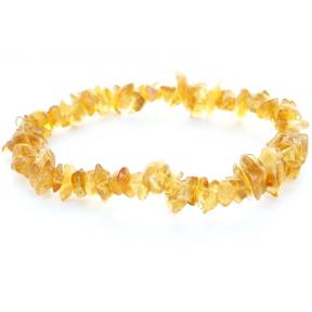 Citrine, Natural Stone Chip Bracelet (3 Pack)