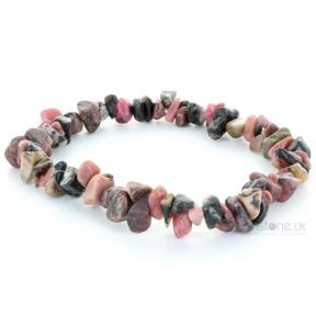 Rhodonite Stone Chip Bracelet (3 Pack)
