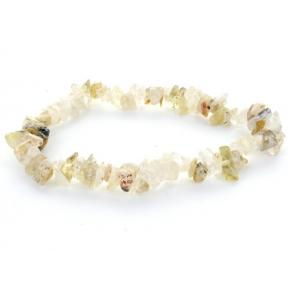 Quartz, Rutilated Stone Chip Bracelet (3 Pack)