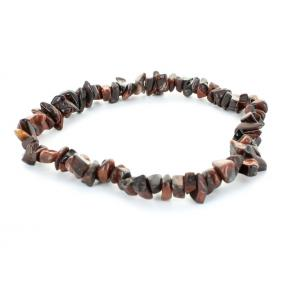 Tiger Eye, Red Stone Chip Bracelet (3 Pack)