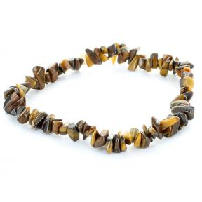 Tiger Eye, Gold Stone Chip Bracelet - Extra Quality (3 Pack)